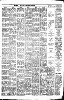 Jennings Funerals, Sample of Newspaper Death Notices and Obituaries